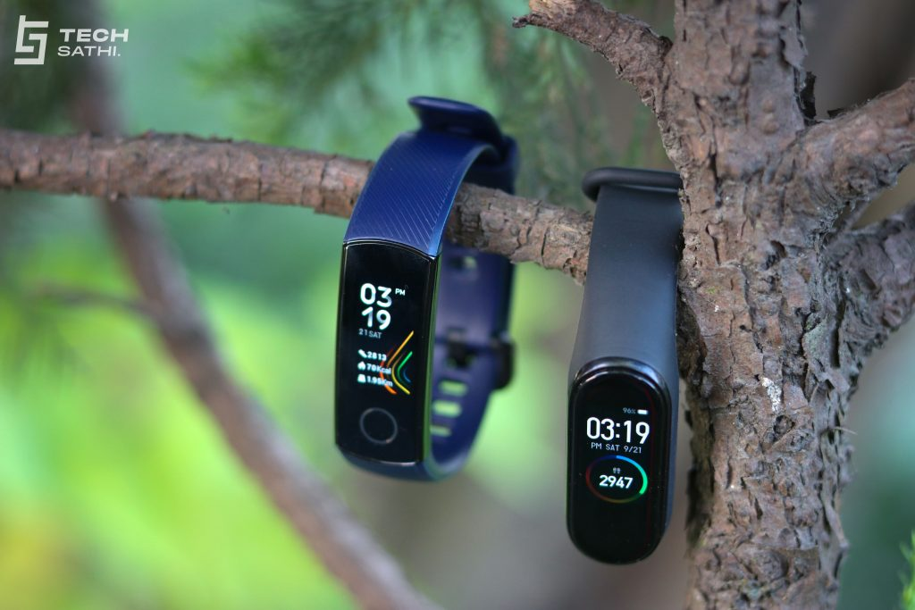 Design Honor Band 5 vs Mi Band 4