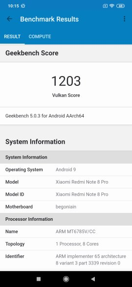 Redmi Note 8 Pro Benchmarks 1