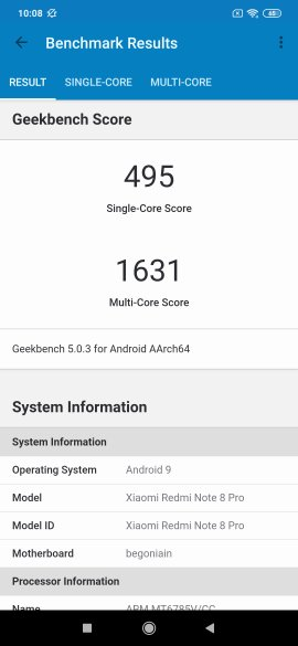 Redmi Note 8 Pro Benchmarks
