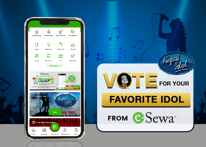 Nepal Idol: Vote For Your Favorite Contestant From eSewa