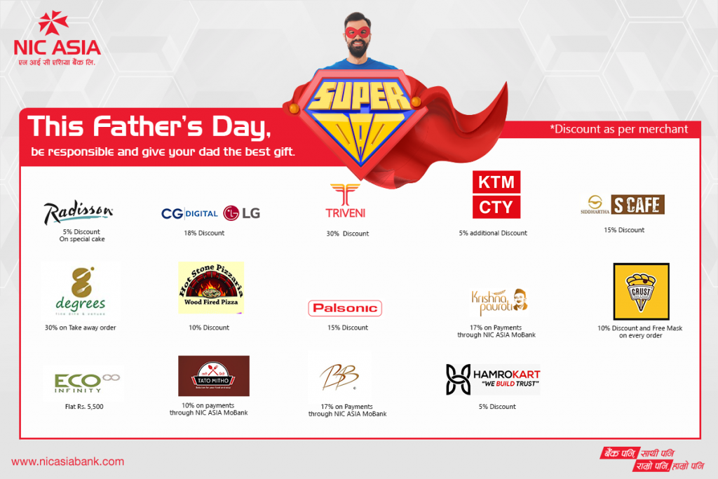 NIC Asia Father's Day 2020 Offer