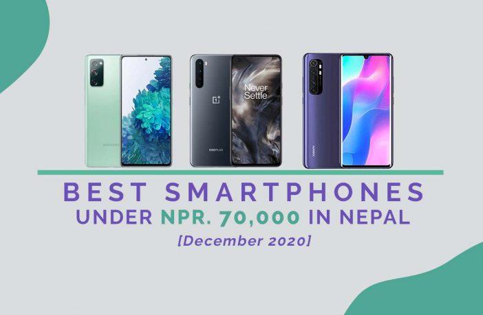 BEST SMARTPHONES UNDER 70000 IN NEPAL