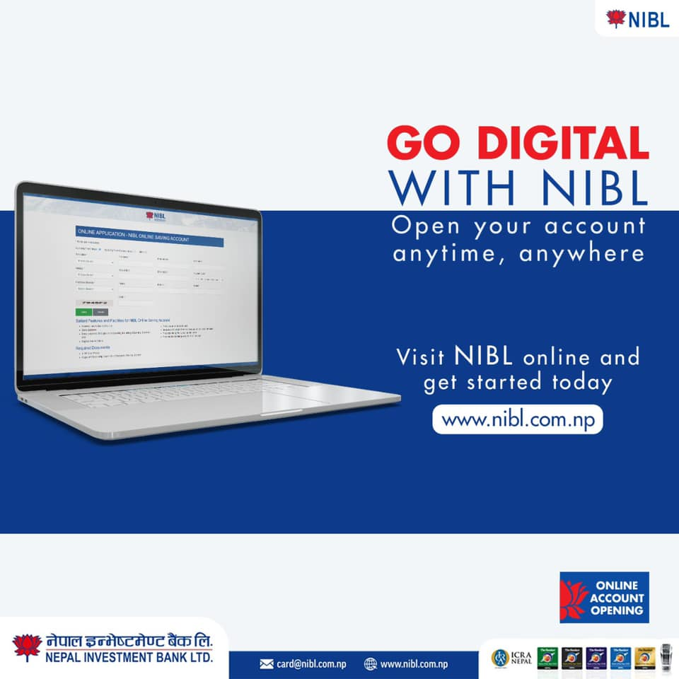 Nepal Investment Bank Online Account Opening