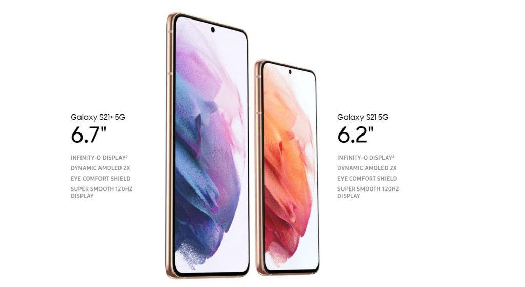 Galaxy S21 5G, 21+ Display