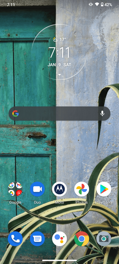 Motorola G9 Play UI