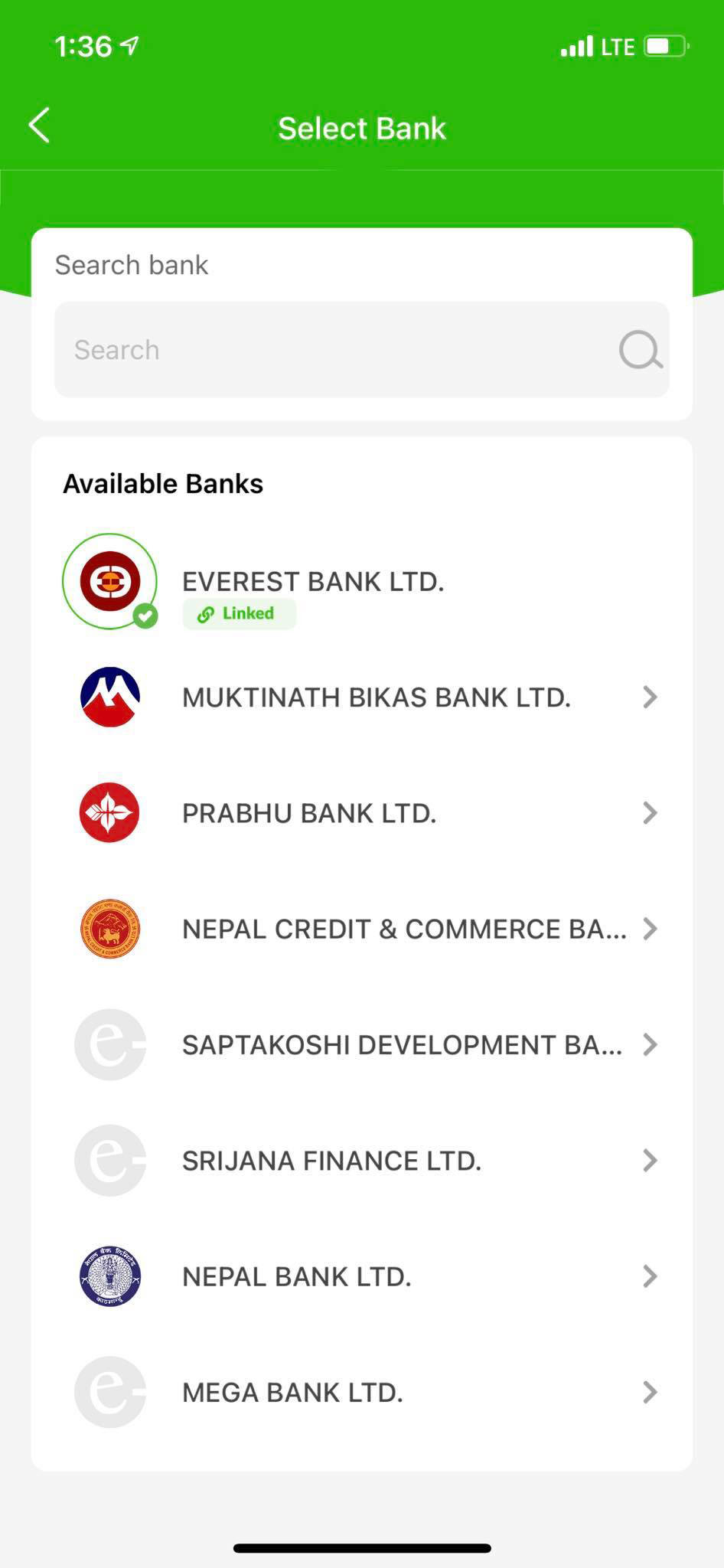 You can now load funds or make transactions in eSewa by linking your bank account