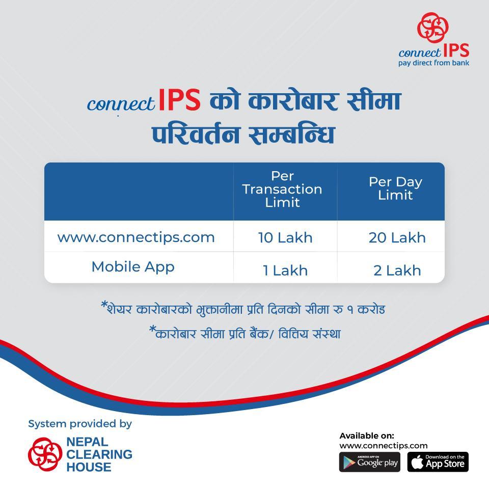 connectIPS Transaction Limit