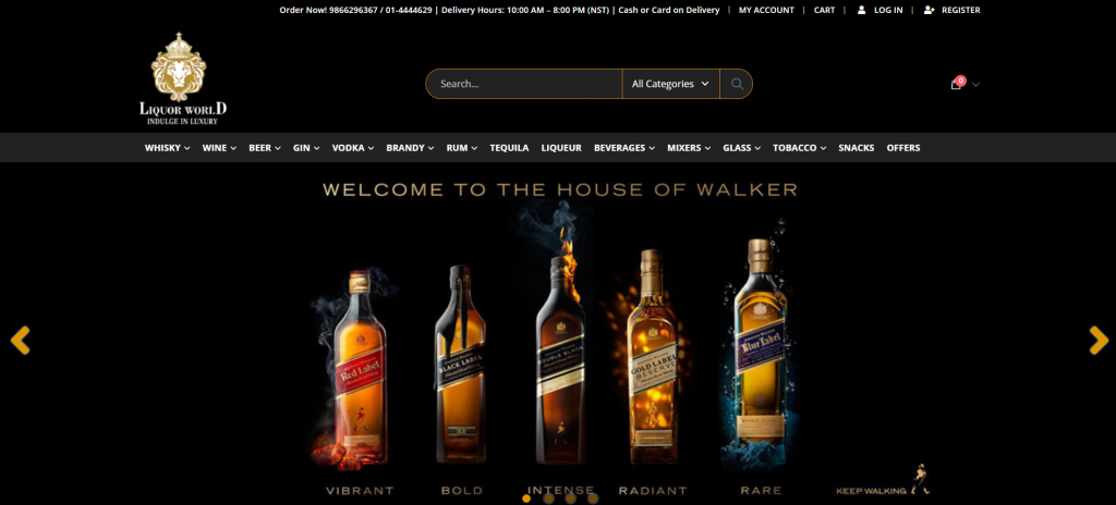 Liquor World : Online Liquor Delivery Service