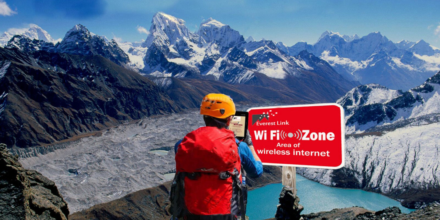 Learn how you can get internet access in the Everest region