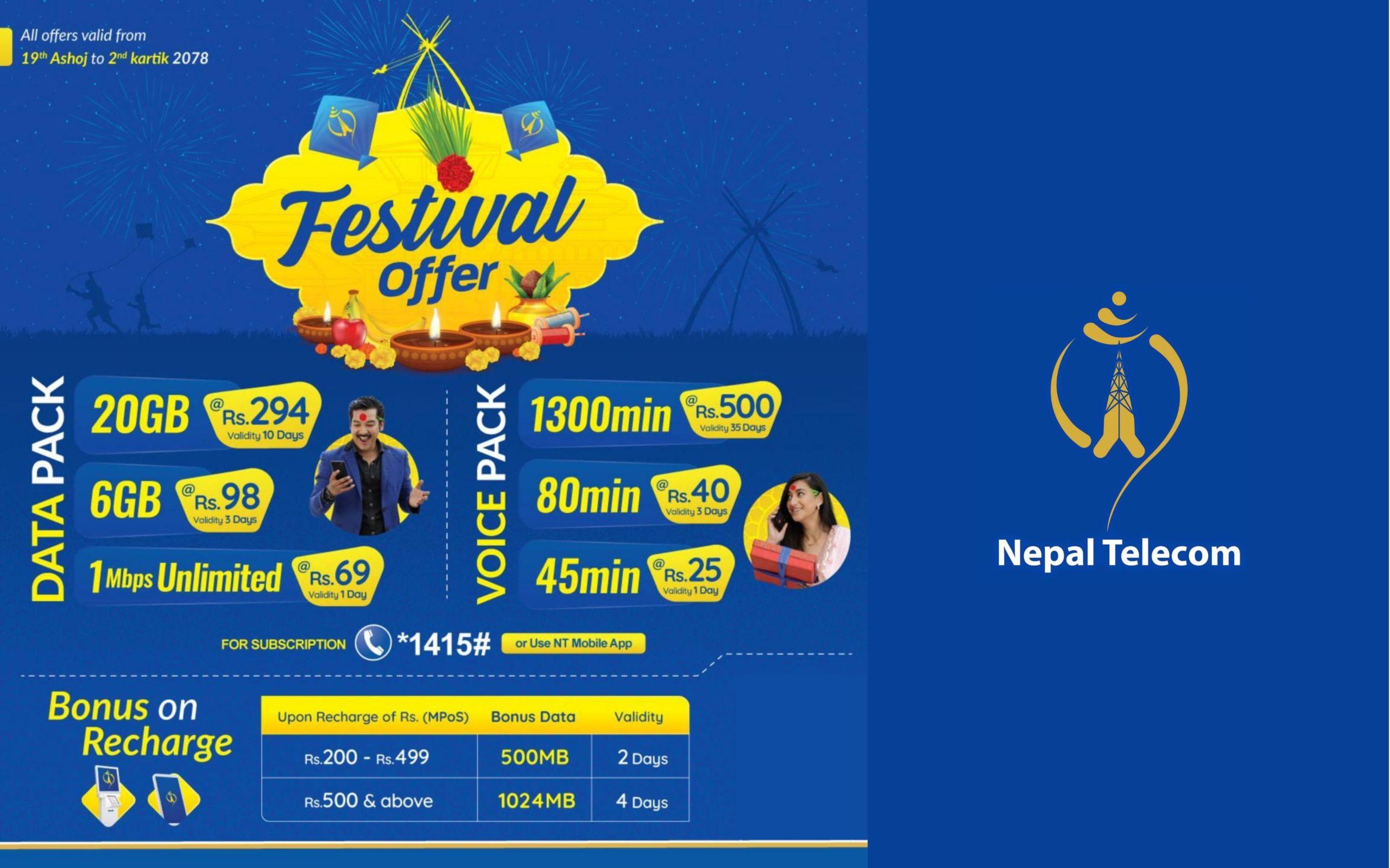 Nepal Telecom brings Data & Voice pack offers » Meroshare